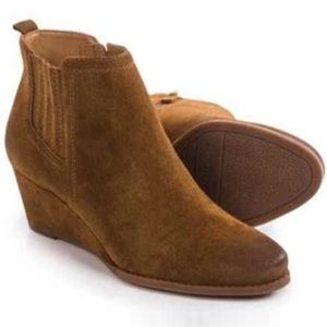 FRANO SARTO Welton suede wedge zipper boot size 8